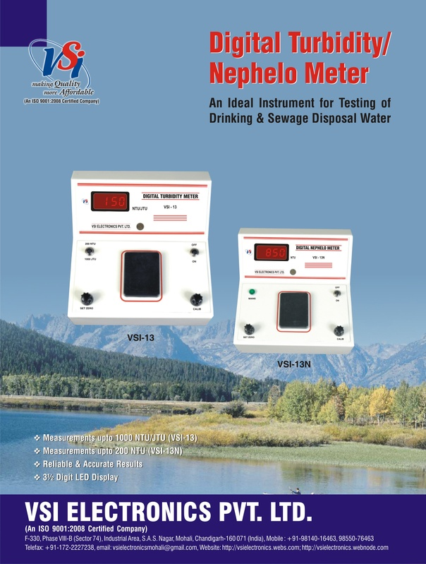 Turbidity Meters & ORP Meters - Front Page