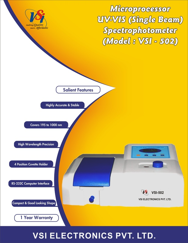 Front Page - UV-Visible Spectrophotometer-single beam
